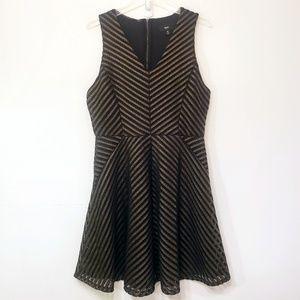 Mossimo Gold & Black V-cut Fit & Flare Dress. XL.